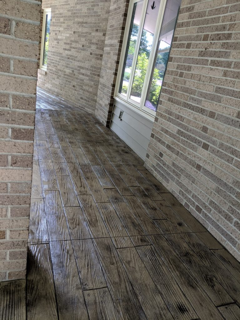 wood-like stamped concrete