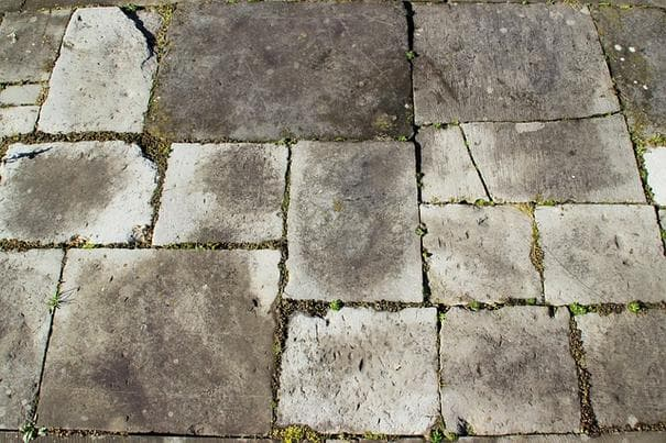 cracks in paver stones