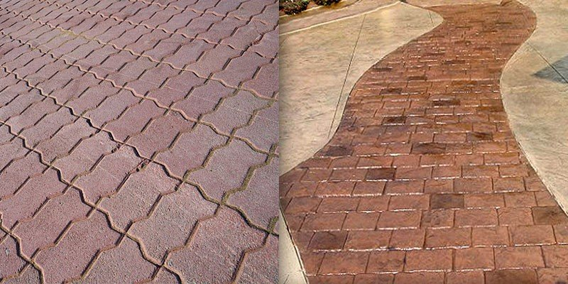 pavers or stamped concrete