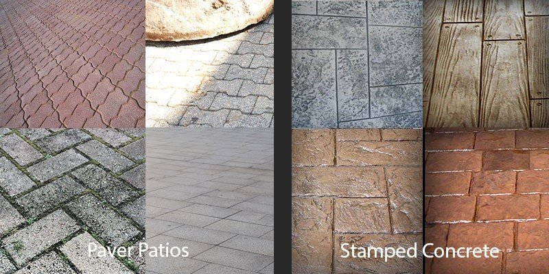 designs pavers vs stamped concrete
